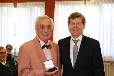 Alfred Mahn und Oberbürgermeister Georg Rosenthal